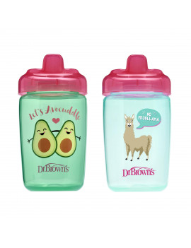Dr. Brown's Milestones Hard Spout Sippy Cup, 12 ounce, Pink, 2 Count