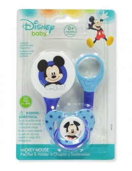 Disney Mickey Mouse Pacifier & Holder Set