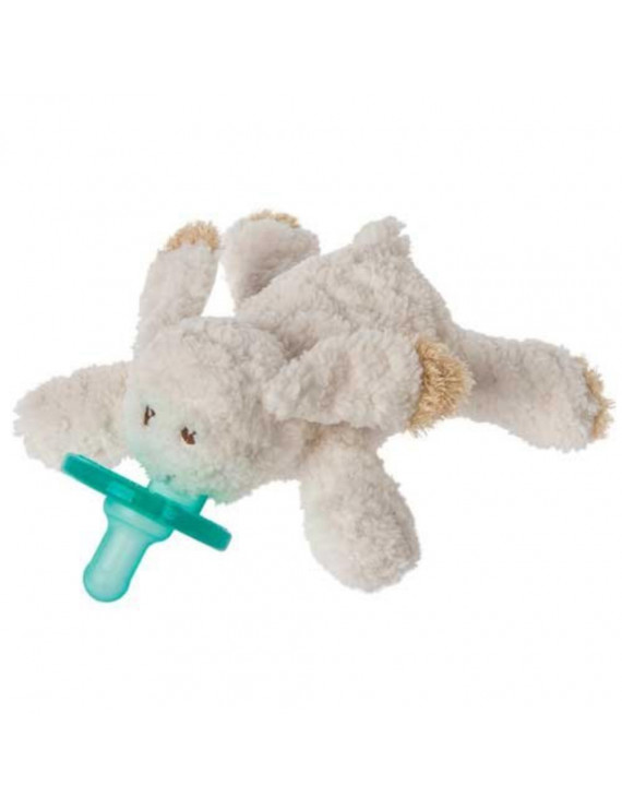 OATMEAL BUNNY WUBBANUB w Attached Soothie Pacifier by, Oatmeal Bunny makes an ideal companion for baby girls and boys! Tan trimmed ears and.., By Mary Meyer