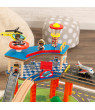 KidKraft Railway Express Wooden Train Set & Table with 79 accessories included