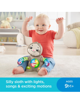 Award Winning Fisher-Price Linkimals Smooth Moves Sloth, Baby Toy With Music and Lights