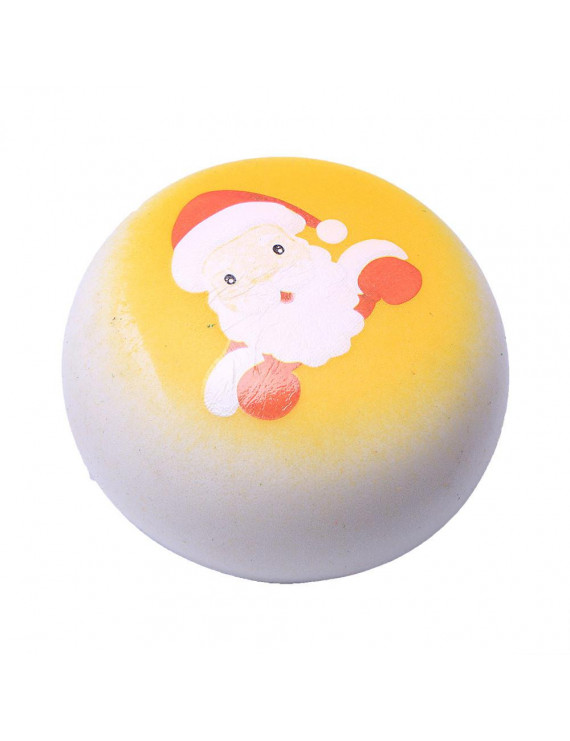 YIWULA Christmas Santa Claus Bread Slow Rising Scented Relieve Stress Toy Key Pendant