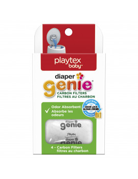 Playtex Baby Diaper Genie Diaper Disposal System Carbon Filters, 4 Ct