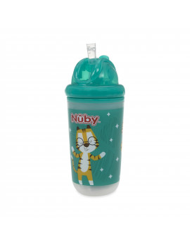 Nuby 10oz Insulated Flip-It Straw Light Up Cup, Colors May Vary