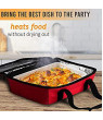 Food Warming Tote, Casserole Carrier 120V, Red