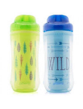 2 Pack Dr Browns Spoutless Spill Proof Insulated Toddler Drink Cup, 10 oz