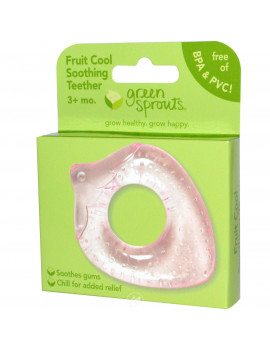 (2 Pack) Green Sprouts Fruit Cool Soothing Teether Pink Berry 1 Ct