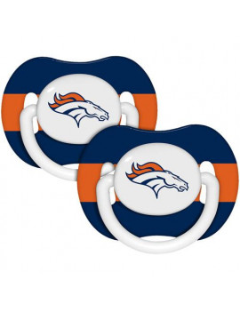 Baby Fanatic NFL 2-Pack Baby Pacifiers, Denver Broncos