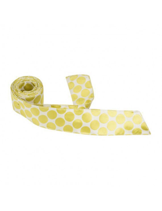 Matching Tie Guy 5378 XY23 HT - 42 in. Child Matching Hair Tie - White With Yellow & Green Polka Dots