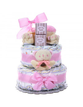 Alder Creek Baby Girl Diaper Cake, 44 pc
