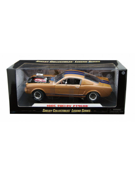 1965 Shelby GT 350R Hard Top, Gold - Shelby SC179G - 1/18 scale diecast model car