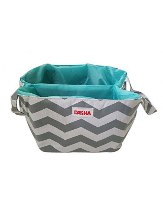 Danha Diaper Storage Caddy Grey Cheveron