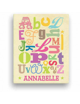 Girl Alphabet Personalized Canvas