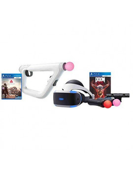 Refurbished PS4 Bundle VR Headset Farpoint Aim Controller Psvr Doom Camera 2 Move Motion Controllers