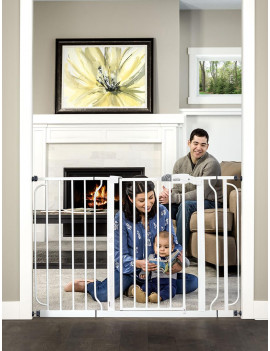 Regalo Easy Step 49-Inch Extra Wide Baby Gate, Includes 4-Inch and 12-Inch Extension Kit, 4 Pack of Pressure Mount Kit and 4 Pack of Wall Mount Kit