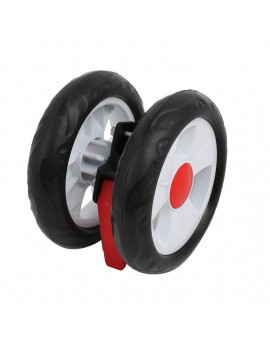 140mm Diameter Plastic Brake  Rear Wheel Pulley Roller for 16mm Tube