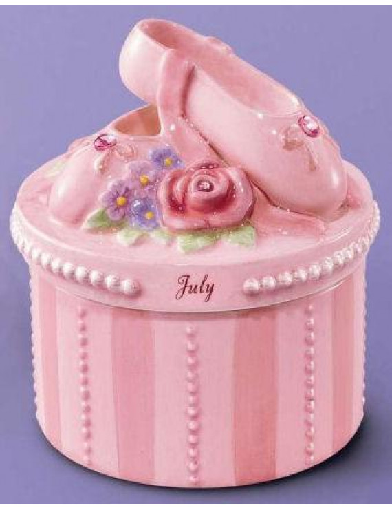 A Time to Dance Classics July Ballerina Trinket Box by Russ Berrie