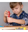 Screw Block Toy- Kids Wooden Manipulative with Screws and Screwdriver-Fun Fine Motor Development Activity for Boys and Girls by Hey! Play!