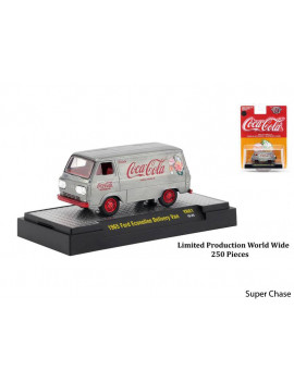 """Coca-Cola"" Yellow Set of 3 Cars Limited Edition to 4,800 pieces Hobby Exclusive 1/64 Diecast Models by M2 Machines"