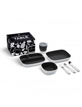 Munchkin Grown Ups Table Toddler Dining Gift Set, Black