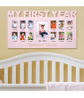 Personalized Baby's First Year Picture Frame - Available in Blue or Pink