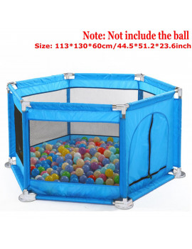 Baby Playpen Portable Playard Durable & Safety Room Divider Portable Game House Foldable Ball Pit for Infants Baby Kids, 44.5x51.2x23.6inch