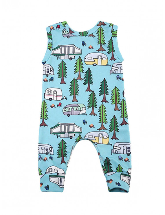 Sleeveless Baby Boy Girl Infant Romper Casual Dungarees Jumpsuit Playsuit Outfit