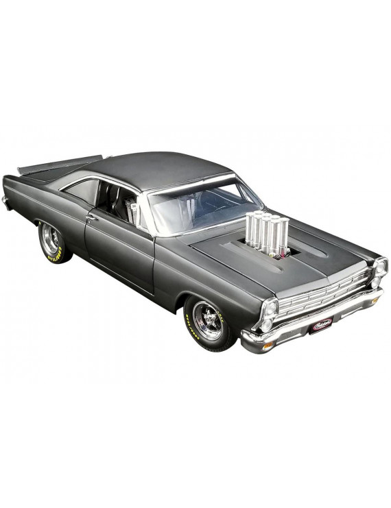 """1966 Ford Fairlane Bootleg """"Pork Chop's"""" Satin Black Limited Edition to 630 pieces 1/18 Diecast Model Car by GMP"""