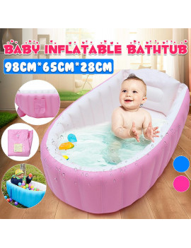 "38"" Inflatable Baby Bathtub,Kids Foldable Swimming Pool , Kid Infant Bathing Tub,Toddler Infant Newborn Travel Shower Basin Seat Non Slip"