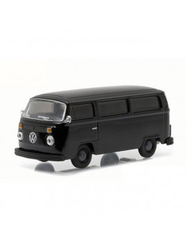 1 by 64 1974 Volkswagen Type Two Bus Bandit Diecast Car Model, Black