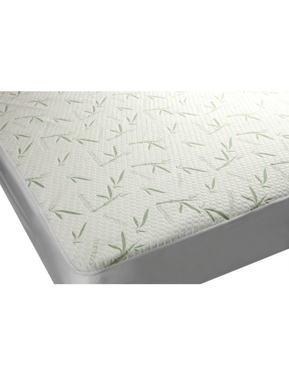 Bamboo Premium Plush Mattress Protector - Soft, Quiet, Comfortable topper, cover - Hypoallergenic, Deep Fitted Pocket (Twin Size)