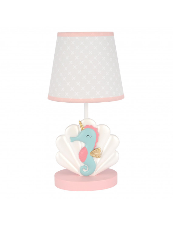 Bedtime Originals Ocean Mist Seahorse/Shell Nursery Lamp with Shade & Bulb