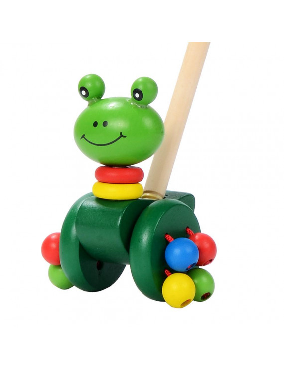 Wooden Push Along D-uck Tooky Toy Toddler Baby Toy Animal a long Educational Toy