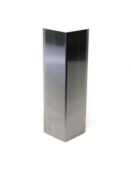 """PAWLING CORP CG-51-4 Corner Guard, Stainless, Stainless, 2""""W X 48""""H"""