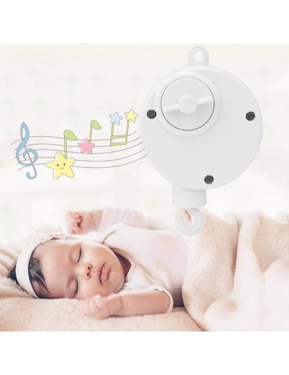 HURRISE 1pc Baby Infant Crib Bed Hanging Bell Toy Mechanical Music Box Relaxing Sweet Melody,Crib Bell,Crib Music Box