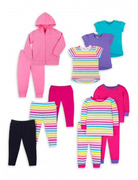 Little Star Organic Baby and Toddler Girls True Brights Kids Pack, 12-Piece