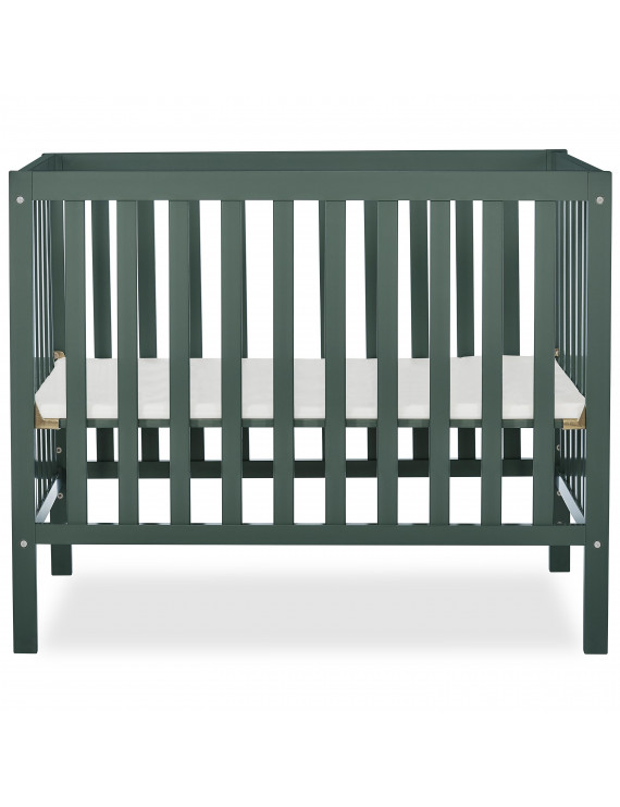 Dream On Me Edgewood 4-in-1 Convertible Mini Crib, Olive