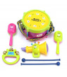 Baby Concert Toys, New Roll Drum Musical Instruments Band Kit Unisex Colorful Learning and Development Toys Gift for Toddler Infant Newborn Kids Boys Girls