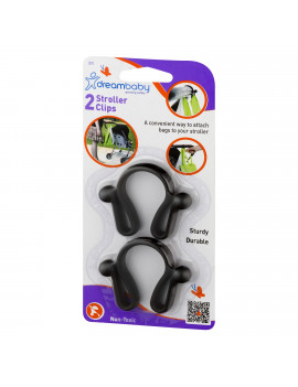 (4 Pack) Dreambaby Stroller Clips - 2 PK, 2.0 PACK