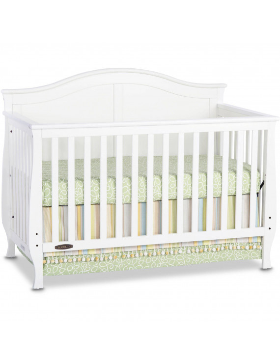 Camden 4-in-1 Convertible Baby Crib with Adjustable Mattress Heights in Matte White by Child Craft