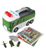GRAN Deformation Military Truck Multiple Sound Effects Military Base With LED Lights