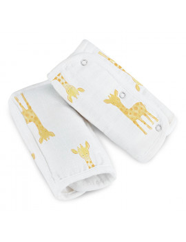 aden by aden + anais carrier strap covers 2 pack, giraffe