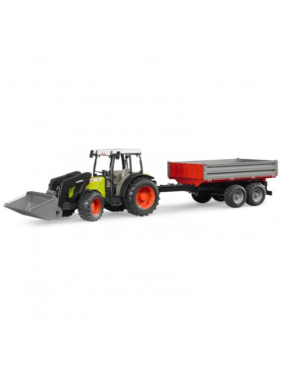 Bruder Toys Claas Nectis 267 F with Frontloader and Tipping Trailer | 02112