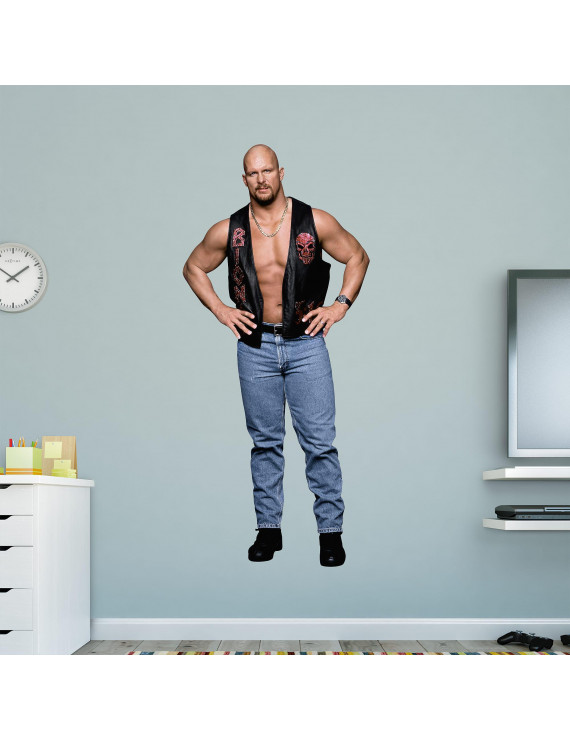 Fathead Stone Cold Steve Austin - Life-Size Officially Licensed WWE Removable Wall Decal