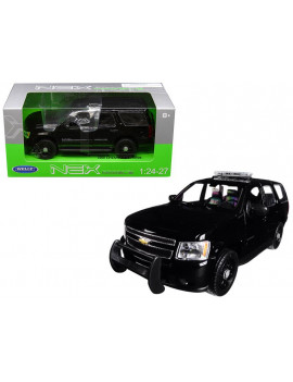 2008 Chevrolet Tahoe Unmarked Police Car Black 1/24-1/27 Diecast Model Car by Welly