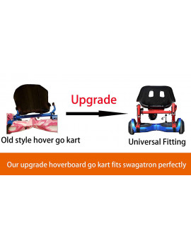 """Black Upgrade Hoverboard Go Kart Seat Attachment, Hover Go Kart Conversion Kit, Hoverboard Go Cart Accessories, Heavy Duty Frame, Fun for Kids Fits 6.5""""/8""""/10"""""""
