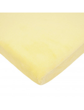 American Baby Co. Soft Chenille Polyester Cradle Sheet, Yellow