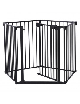 Zimtown Portable Baby Safety Gate Door Pet Dog Cat Fence Playard with swing door