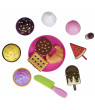 Playkidz Pretend Pastry Food, Pretend Play Set Toy Food, Educational Fun Little Pastries for Childrens Play Kitchen, Assortment of Fake Cookies, Cupcakes, Ice Cream etc.