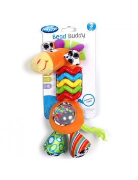0181561107 My First Bead Buddies Giraffe for baby infant toddler children, Rattle beads and click-clack sounds for auditory stimulation By Playgro